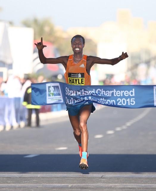 Berhanu wins Dubai Marathon 2015