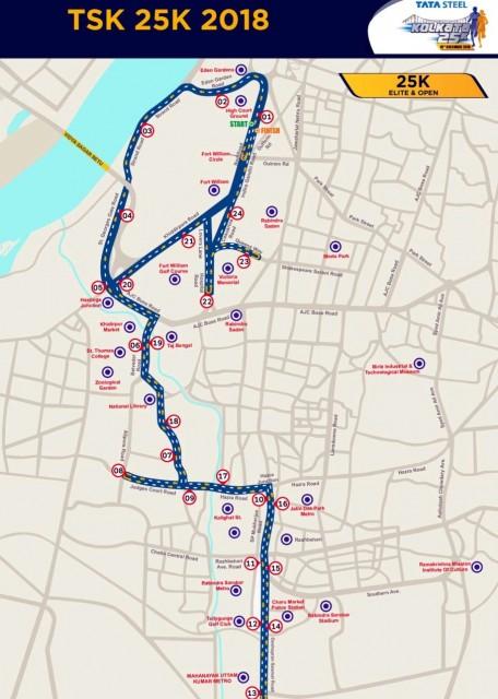 kolkata-25k-2018-course